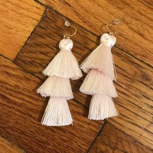 Light pink BaubleBar dangle earrings